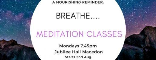 Breath….. Meditation Classes